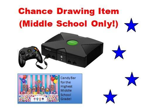 Middle School Chance Drawing and Grade Level Prize