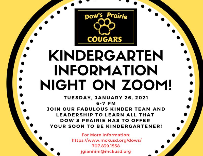 Kinder Information Night flyer