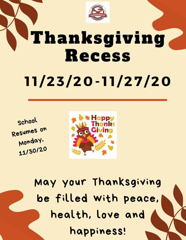 Thanksgiving Recess 11/23-11/27