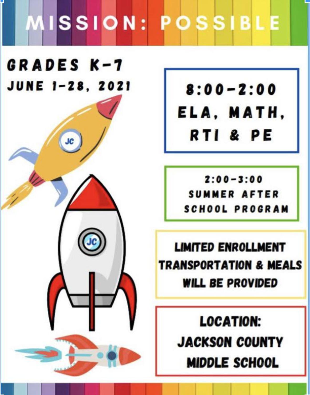 Image of 2021 Summer Learning Camp Grades K-7