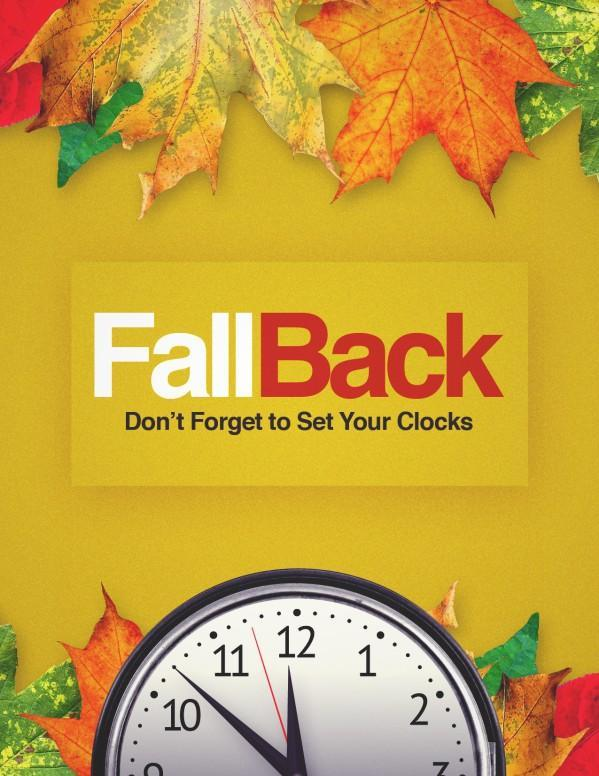 Daylight Saving Ends Nov 1st