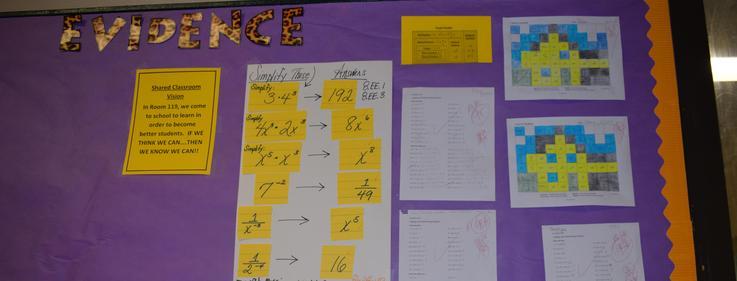 Evidence Wall at Denman Junior High School.