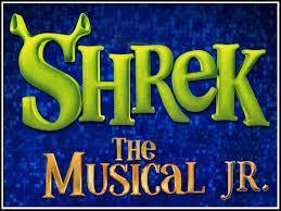 shrek logo with shrek ears.  Green.