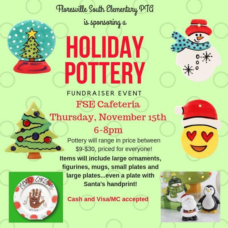 Pottery Fundraiser Flyer