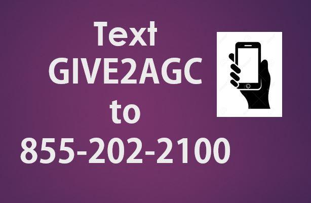 Text Give2AGC to 855-202-2100