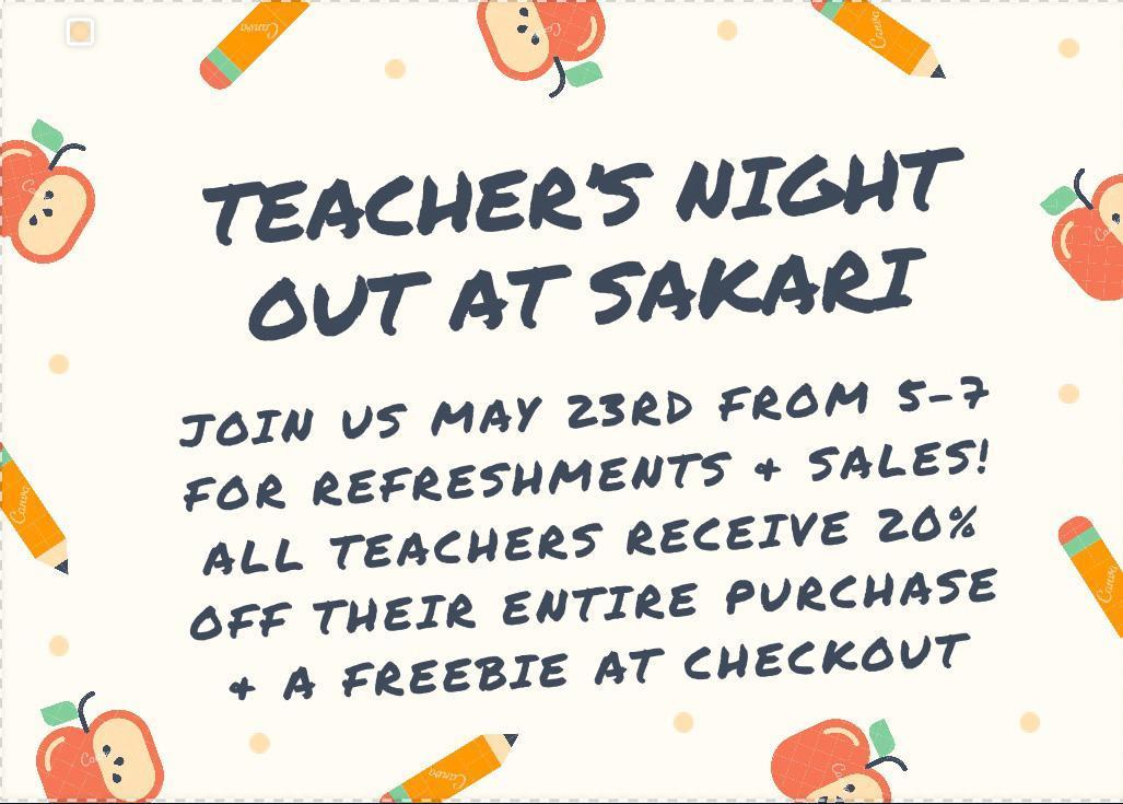 Teachers night out at Sakari