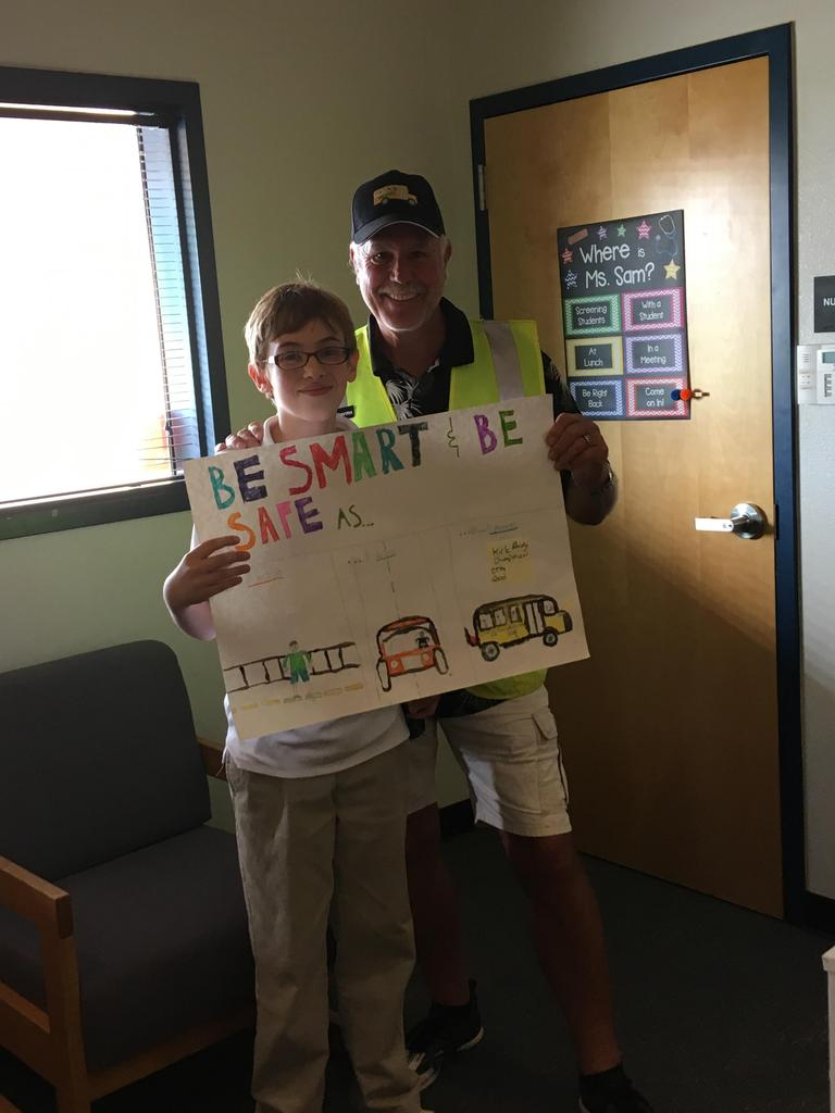 Kirk - National School Bus Safety - Art Contest Winner