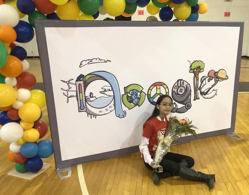 Seventh Grader Christelle Matildo announced as Texas Doodle for Google winner Thumbnail Image