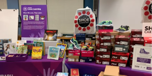 Image of shoes and book donations