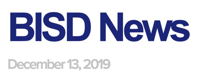 BISD News: 12/13/19
