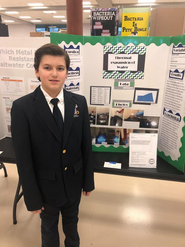 Diego Minjares Won at the State Competition Science Fair!!! Featured Photo