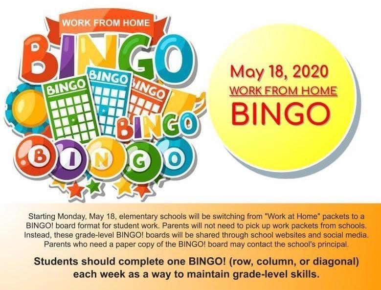BINGO! Students Work From Home Remote Schedule Featured Photo