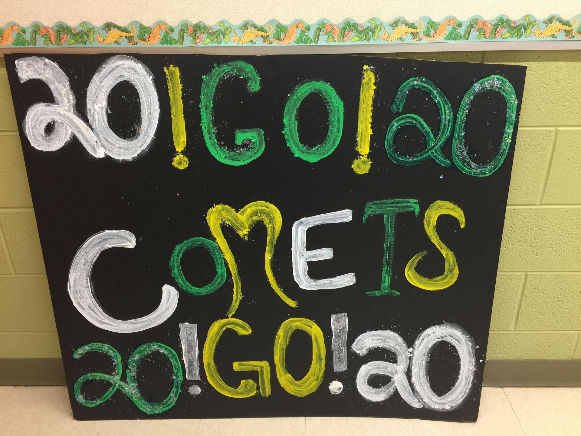 RTI made a spirit sign for Homecoming