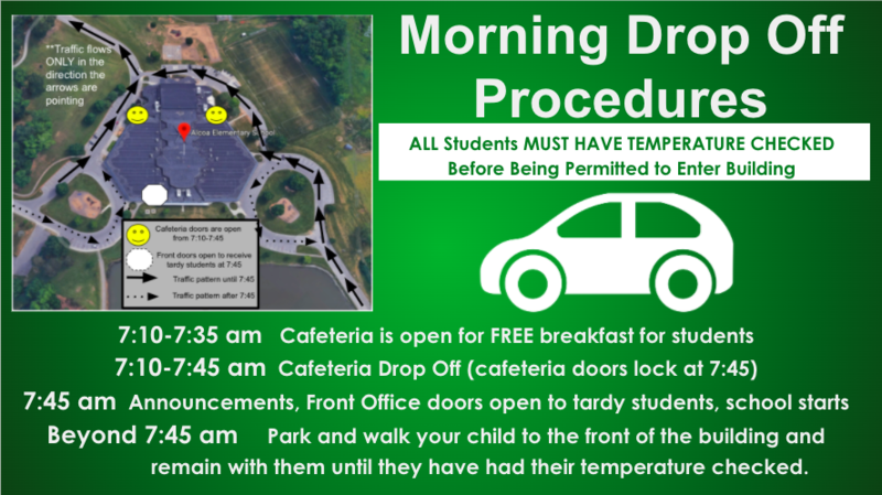 Drop Off Procedure Banner