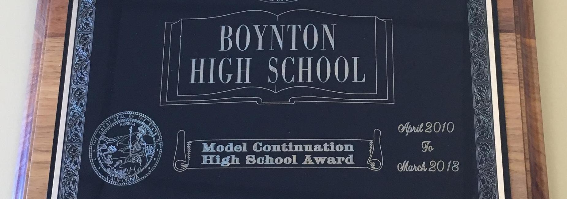 Boynton's Model Continuation Award