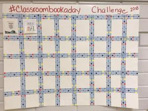 chart with 100 squares for 100 stickers to be placed for read alouds every day