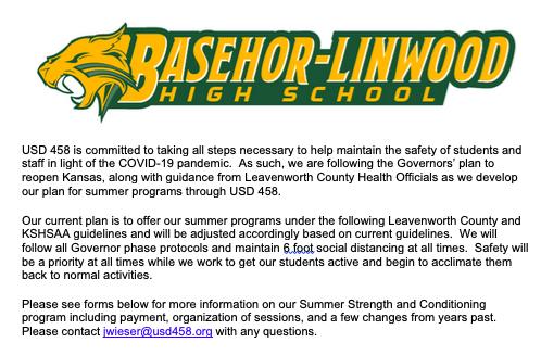 Summer Program Safety Info