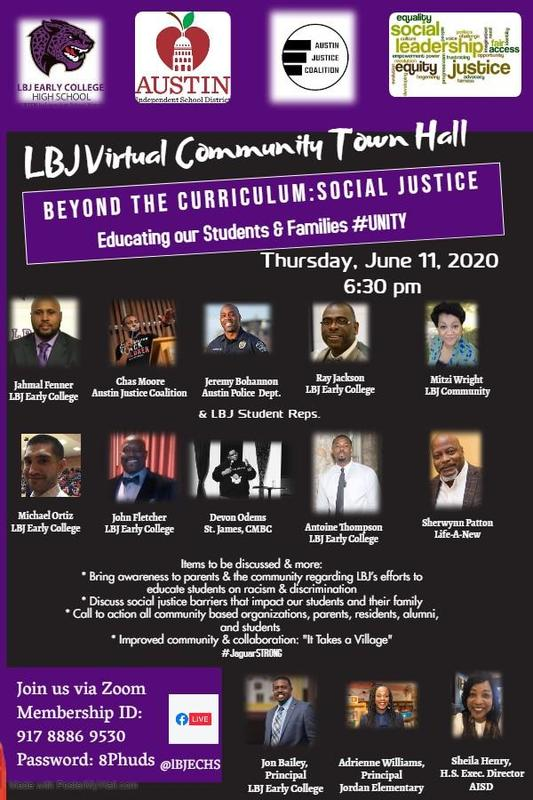 LBJ Community Social Justice Town Hall Featured Photo