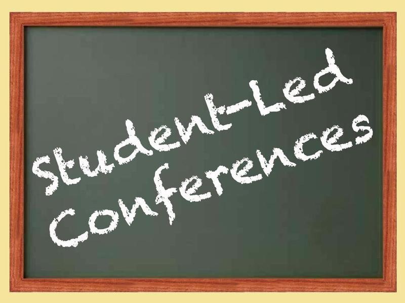 student-led conferences on chalkboard