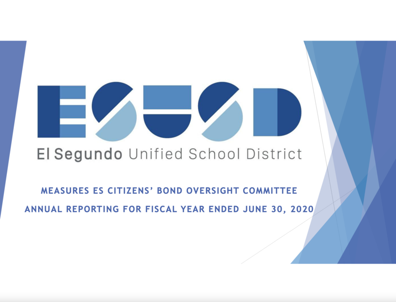 ESUSD Publishes Citizens' Bond Oversight Committee 2019-2020 Annual Report Featured Photo