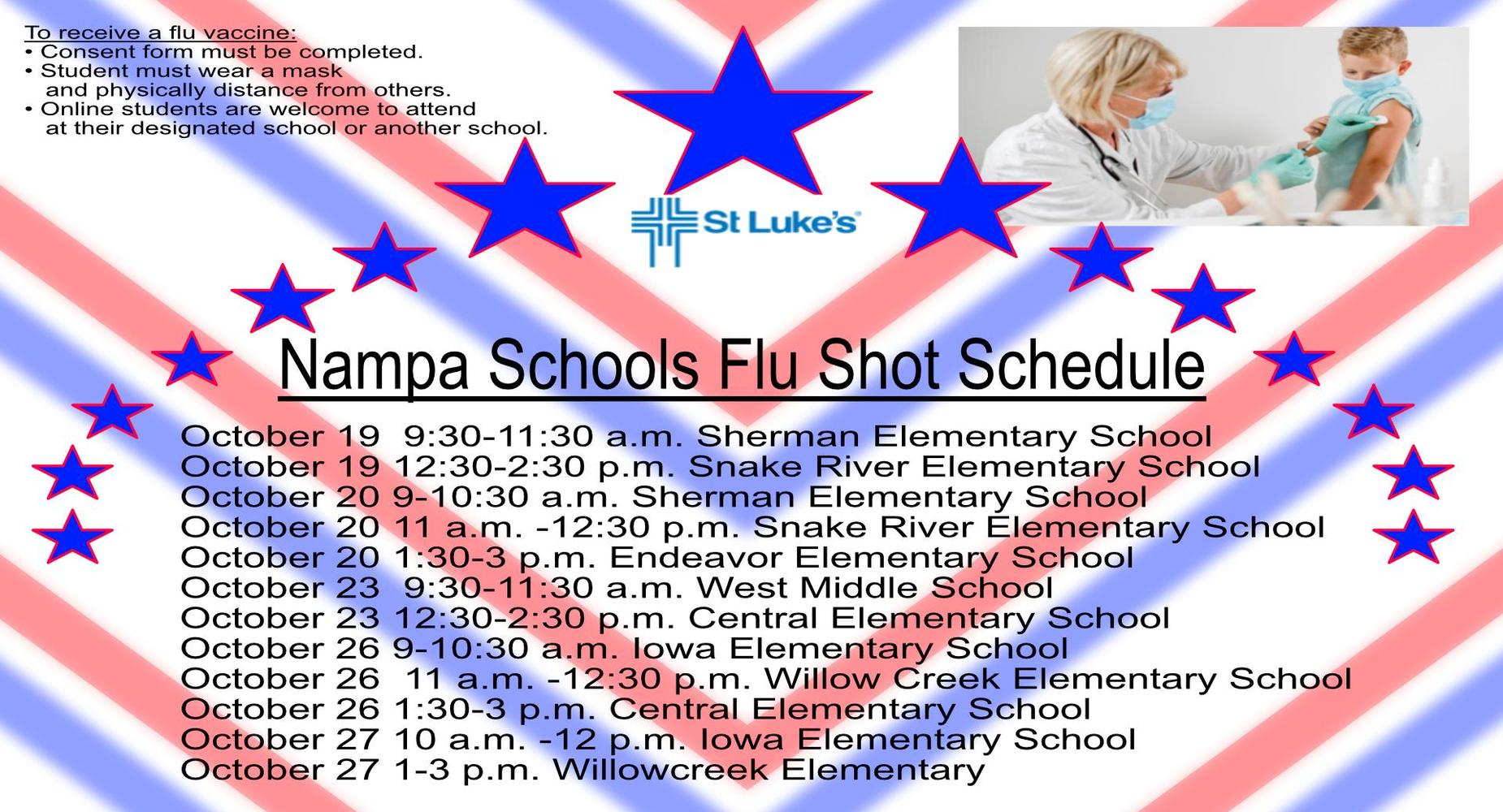 school flu shots - where to get them