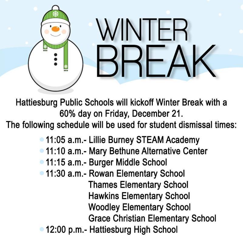 Winter Break: Early Dismissal Schedule Featured Photo