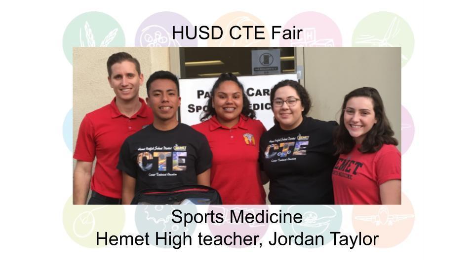 Sports Medicine Hemet High teacher, Jordan Taylor