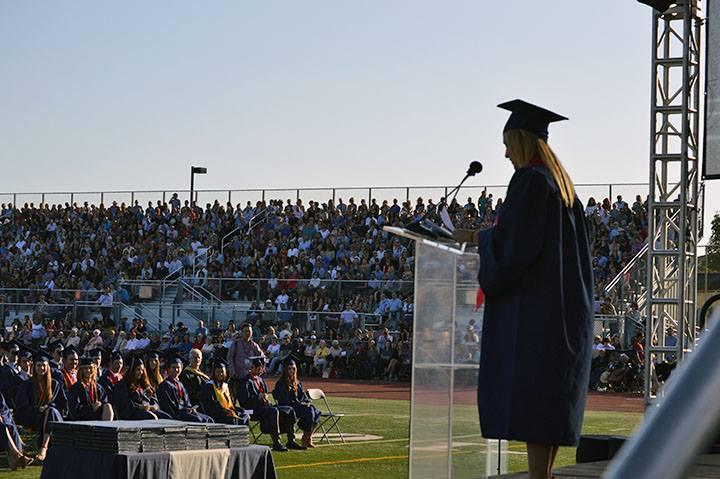 Speaker at graduation