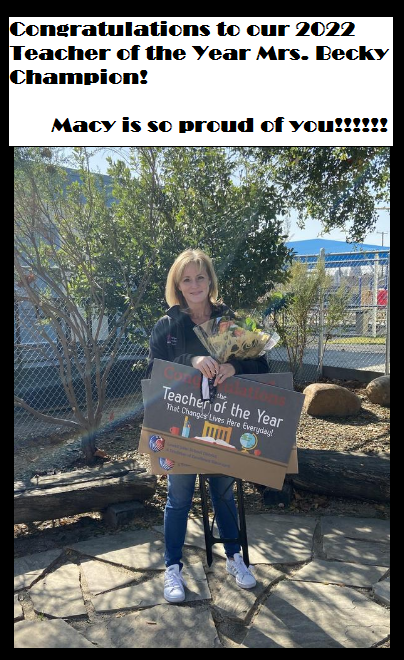 2022 Teacher of the Year Featured Photo