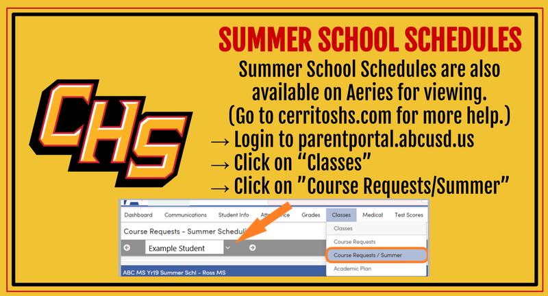 Summer School Schedules