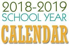 Academic Calendar for 2018-2019 School Year Featured Photo