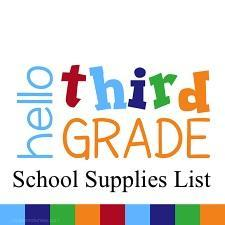 third grade supplies list icon/link