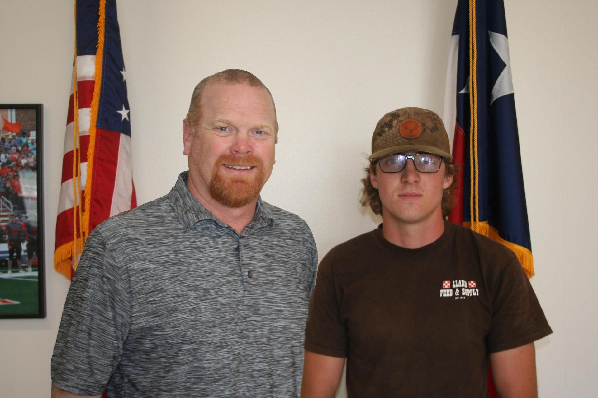 Mr. Edwards and Tyler Westermann