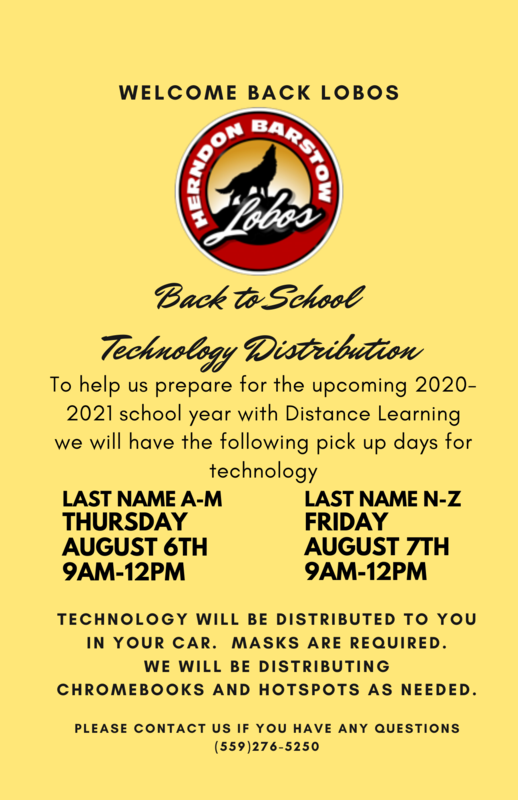 Herndon Barstow tech distribution schedule
