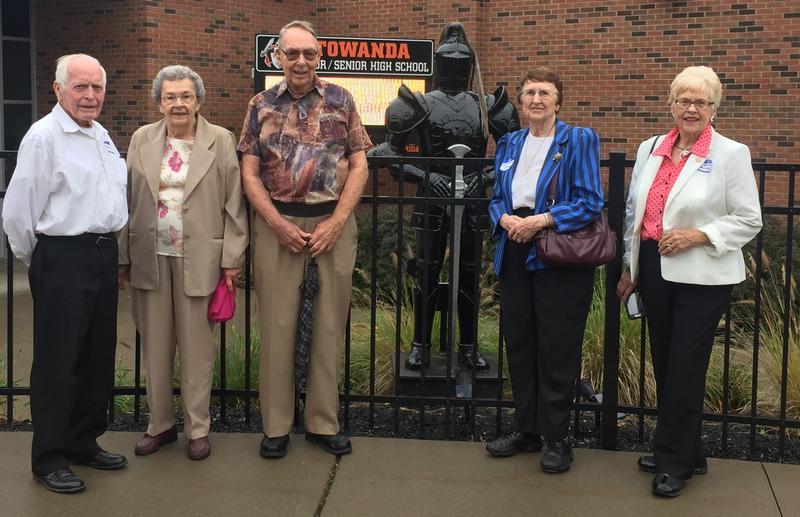 THS Class of 1953 Alumni toured the Towanda Jr/Sr High School as a part of their 65th class reunion.