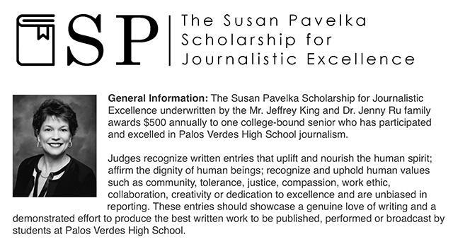 The Susan Pavelka Scholarship for Journalistic Excellence Thumbnail Image