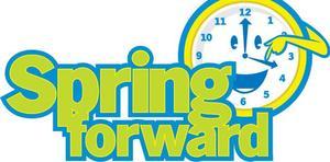 spring forward clipart