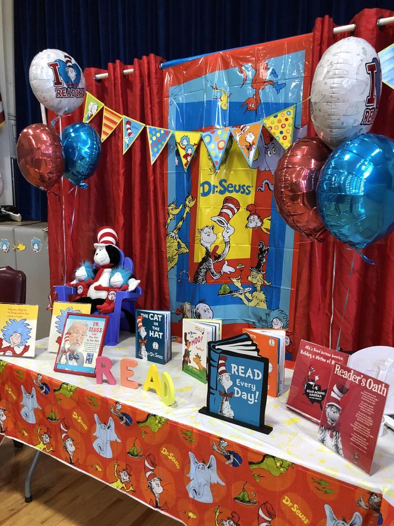 Dr. Seuss Table and display
