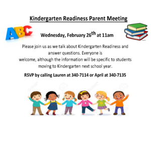 ELC flyer about Kindergarten Readiness