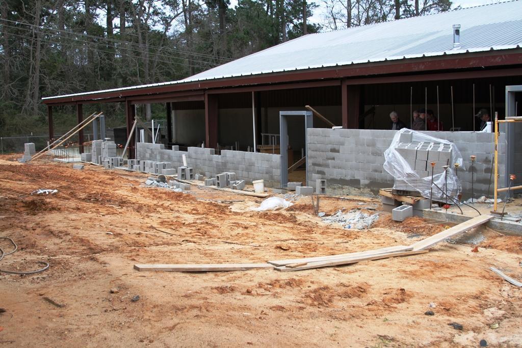 Construction photo of LJH locker room addition