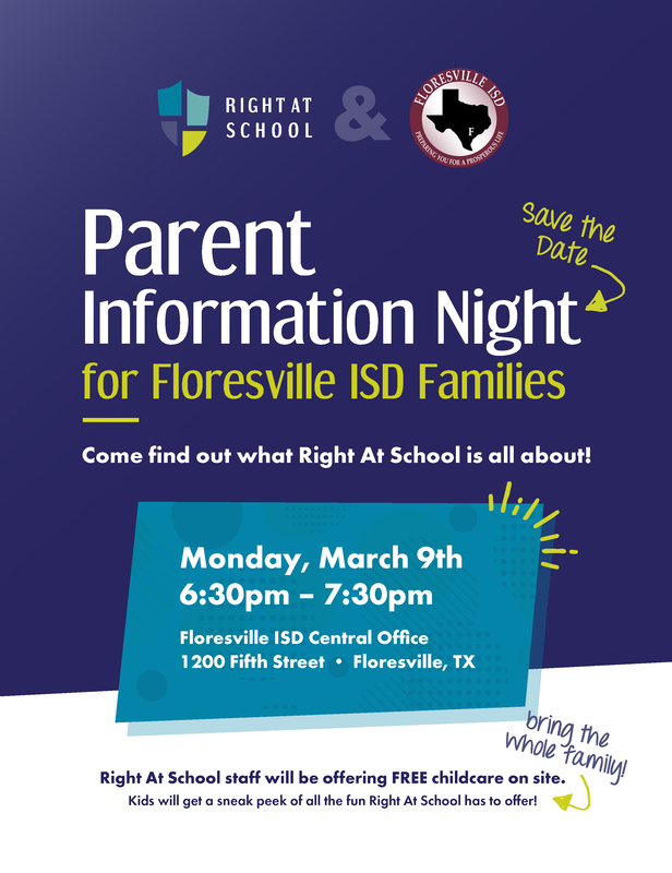 Flyer about after school care parent meeting