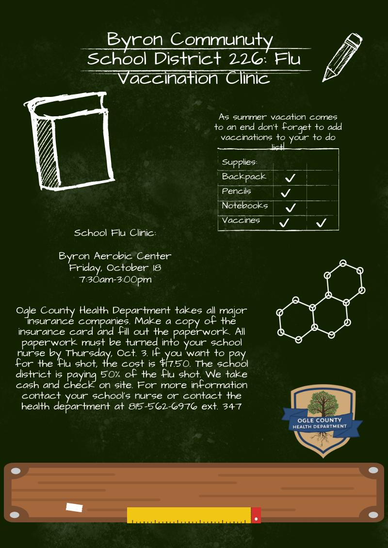 flu clinic flyer