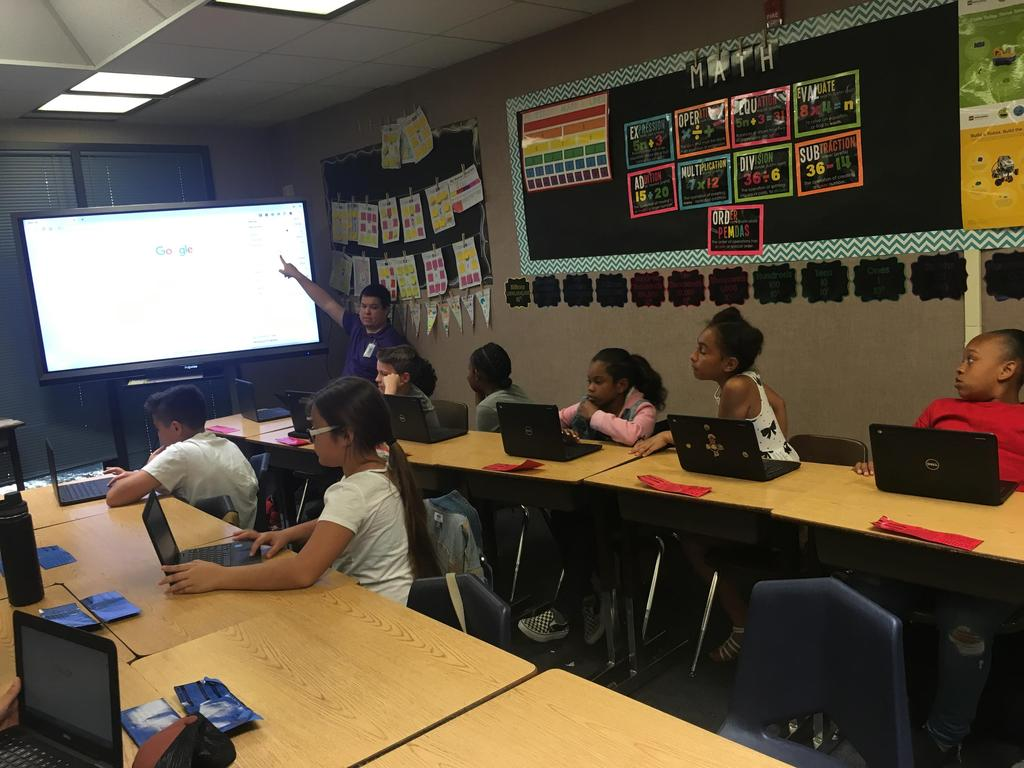Digital Dragons in classroom