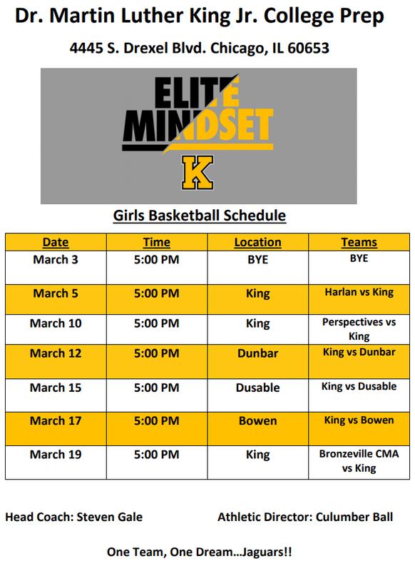 Girls Basketball Schedule