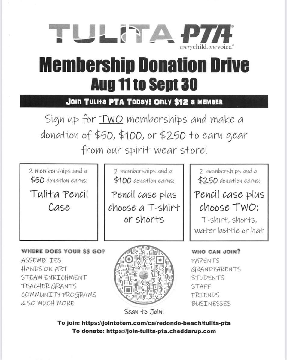 Membership Donation Drive 2021