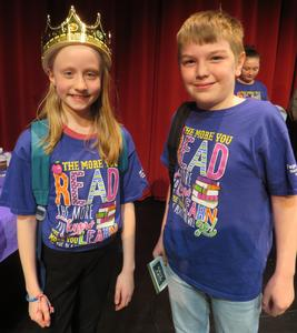 Carmen Reynolds was crowned the Battle of the Books champion and Logan Cruz was the runner up.