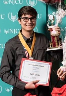 Pablo Garcia winner of the International Science & Engineering Fair