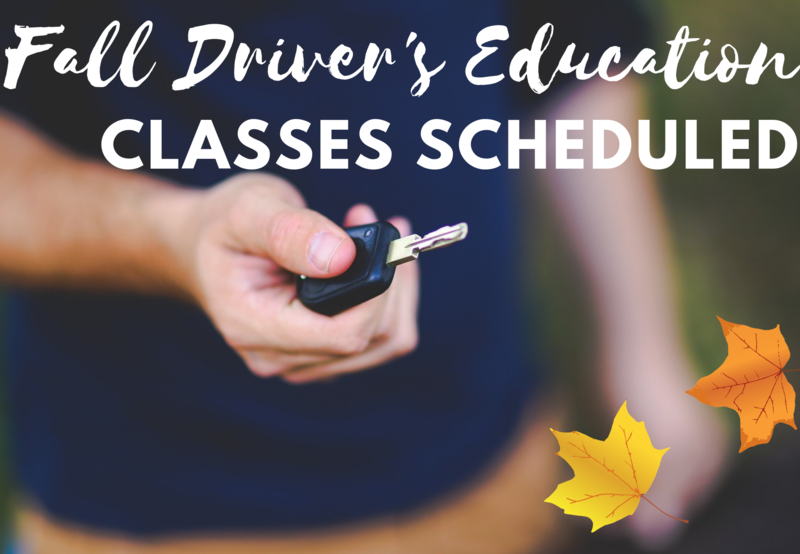 Fall Driver's Education Classes Planned Thumbnail Image