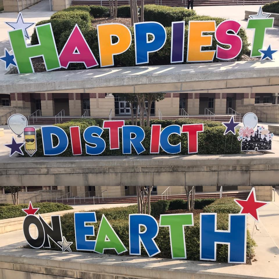Happiest District on Earth yard signs