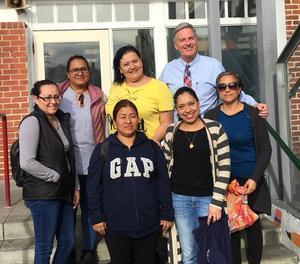 Downtown Value School Parent Center Coordinator Isabel Patterson (second top left)